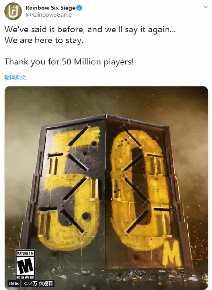 《彩虹六号:围攻》玩家人数突破5000万 用这款游戏加速器更加稳定