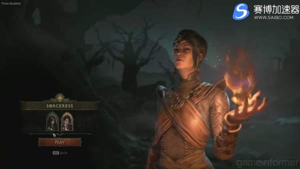 游戏加速器实机演示《暗黑破坏神4》女巫师掌控冰火雷电对战敌人